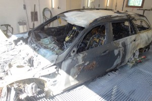Probably arson fire led to two Mercedes taxis at the premises of taxi Holl in Baden-Baden.