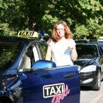 Roxana Ioana Cruceru fährt Baden-Badens erstes Elektro-Taxi